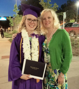 Proud Mom Moment, Lisa Winton with Maggie just after graduation.