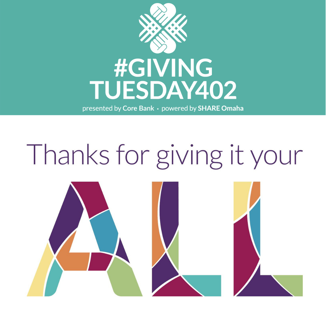 Thank you, Donors Giving Tuesday